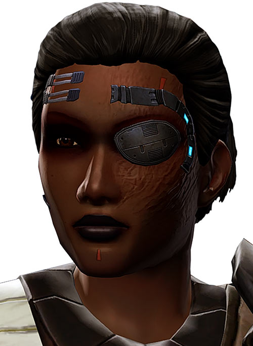 SWTOR - Star Wars the Old Republic- Cyborg republic trooper face closeup - White background