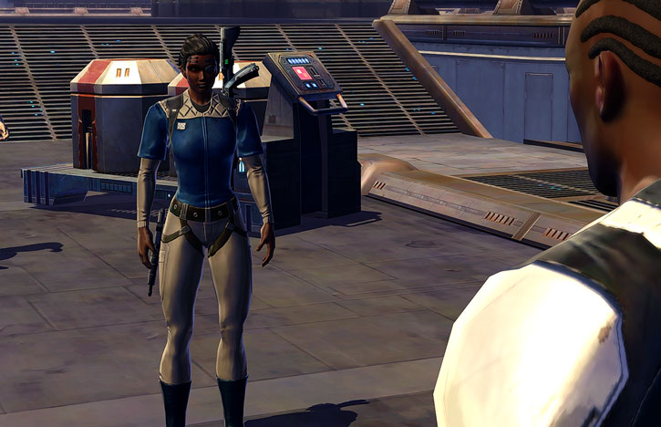 SWTOR - Star Wars the Old Republic- Cyborg republic trooper on Ord Mantell