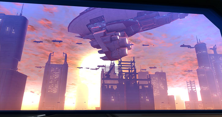 SWTOR - Star Wars the Old Republic- Corruscant skyline