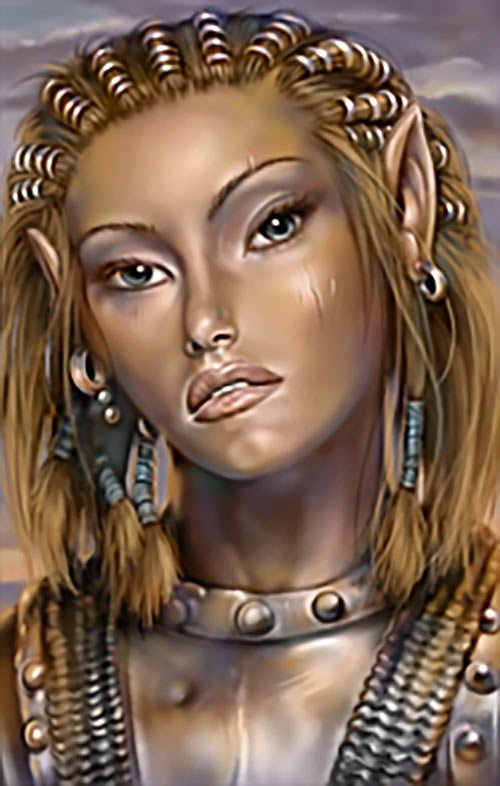 Jaheira (Baldur's Gate video game BG2) portrait