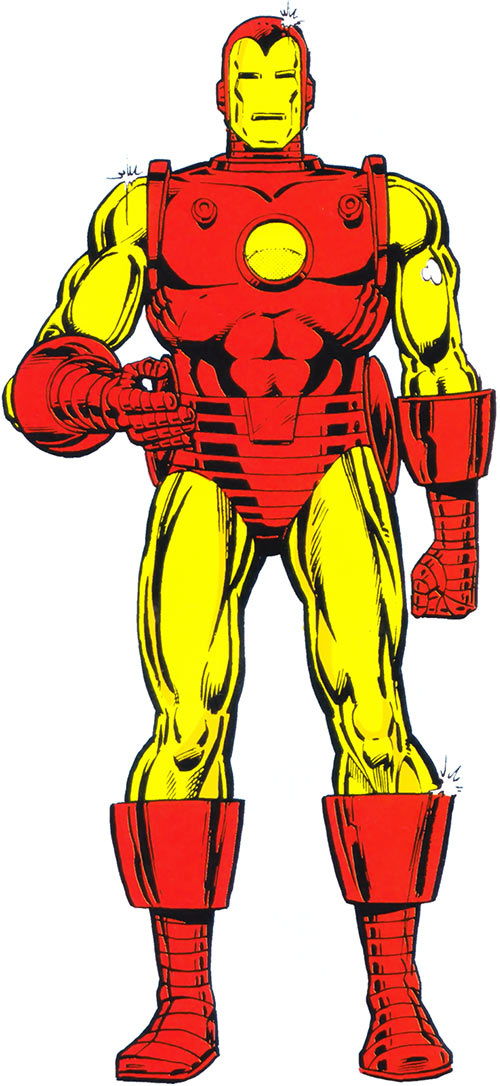 Iron Man James Rhodes from the 1983 Official Marvel Comics Handbook