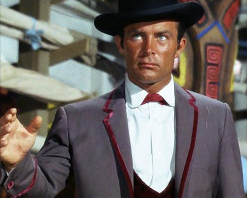 James West (Robert Conrad in Wild Wild West) gray vest white shirt