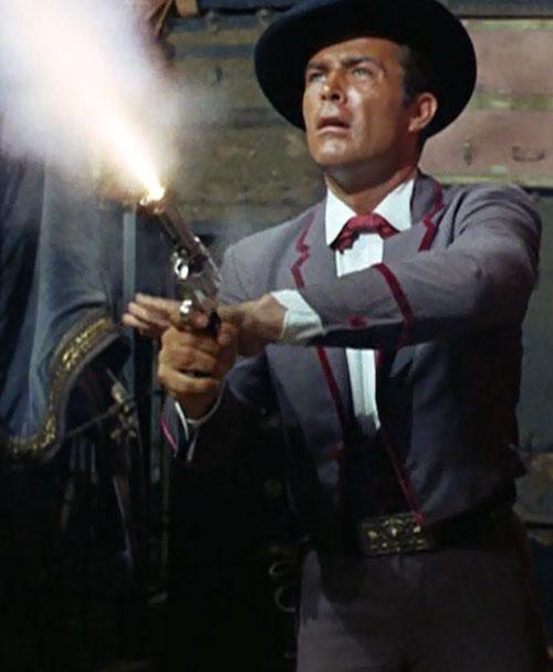 James West (Robert Conrad in Wild Wild West) shooting fanning a pistol