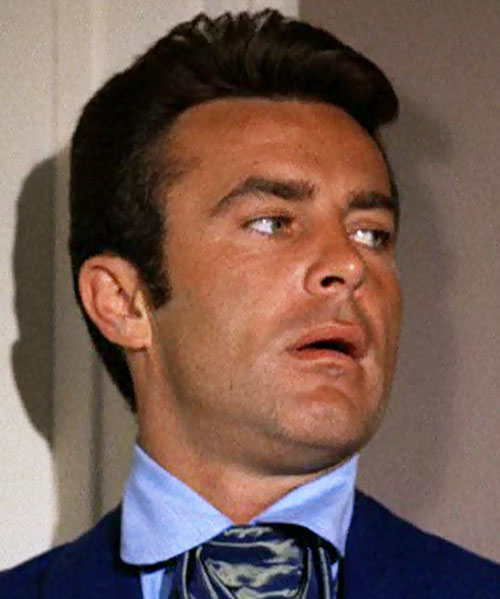 James West (Robert Conrad in Wild Wild West) face closeup