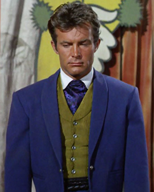 James West (Robert Conrad in Wild Wild West) purple jacket