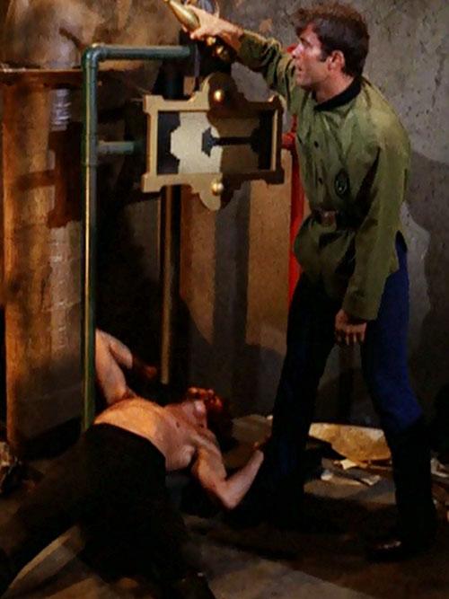 James West (Robert Conrad in Wild Wild West) after a brawl