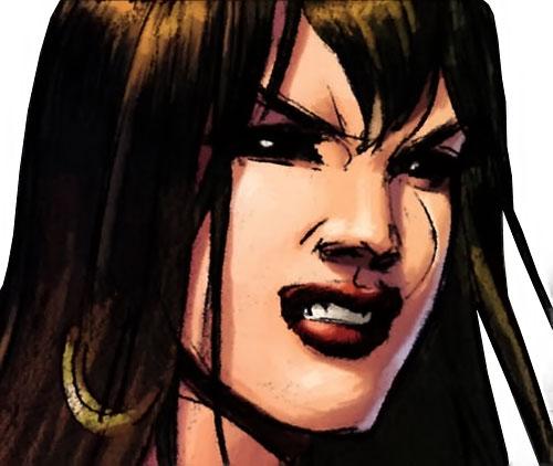 Janissa the Widowmaker (Conan ally) (Dark Horse Comics) scowling