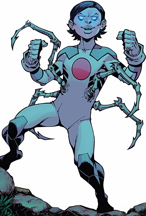 Japandroid of the Guardians of the Globe (Image Comics) spider legs and glowing eyes