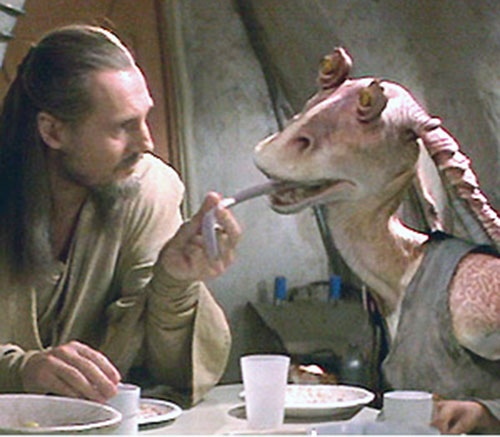 Jar Jar Binks vs. Qui-Gon Jinn