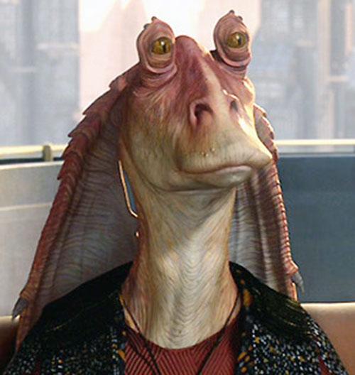 Senator Jar Jar Binks face closeup