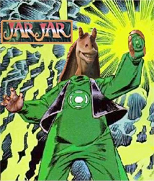 Green Lantern Jar Jar Binks