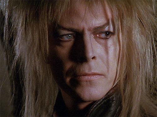 Jareth the Goblin King (David Bowie in Labyrinth) face closeup