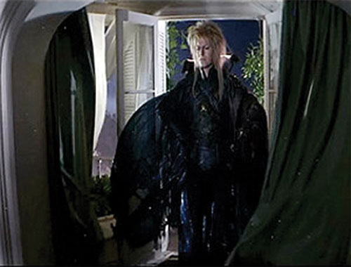 Jareth the Goblin King (David Bowie in Labyrinth) in a black costume