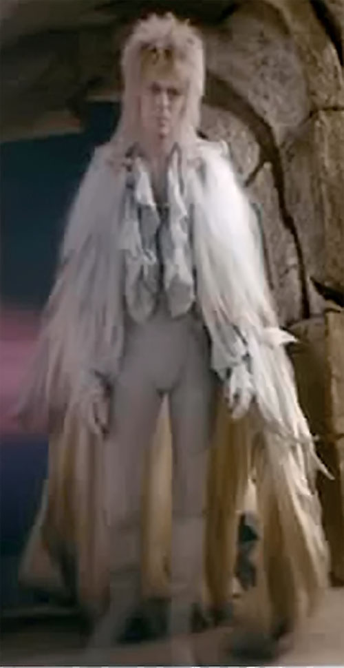Jareth the Goblin King (David Bowie in Labyrinth) in a white owl costume