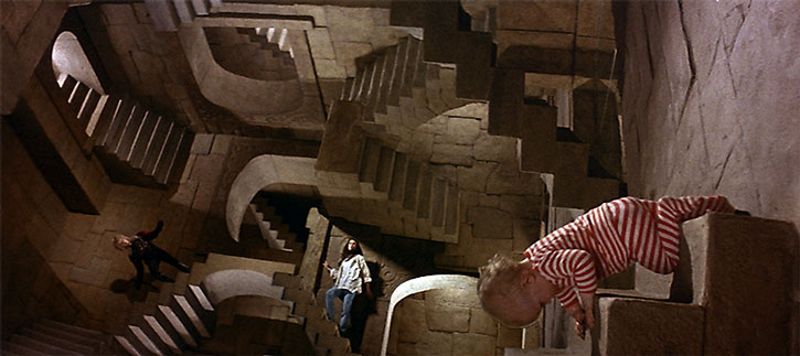 Escher-style perspective in the movie Labyrinth
