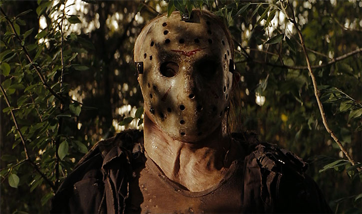 Jason Voorhees in a forest
