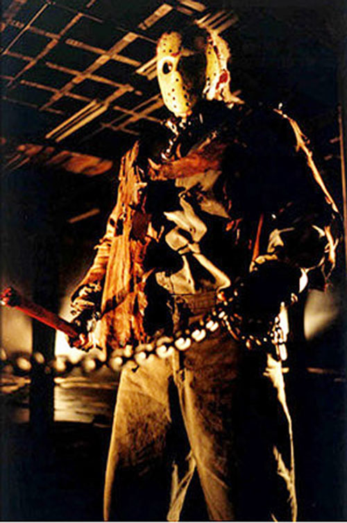 Jason Voorhees (Friday the 13th) in orange lighting