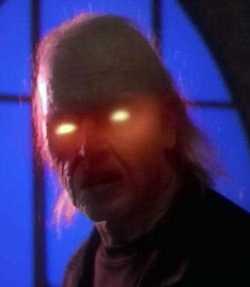Javna (Charmed demon) glowing eyes
