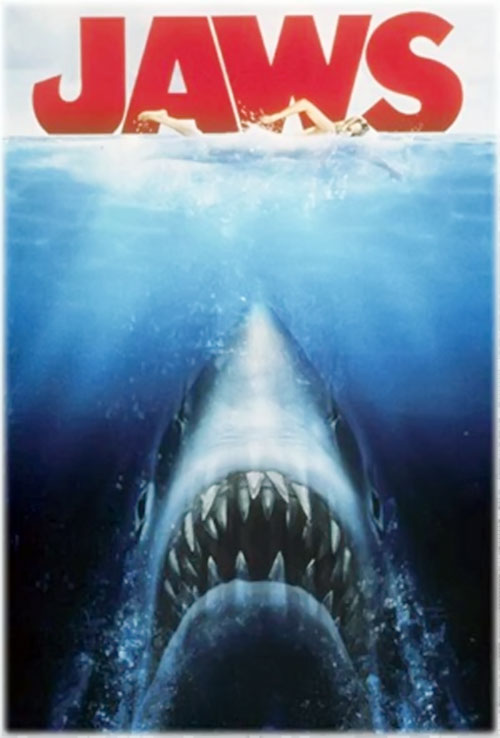 Jaws shark (Spielberg movie) poster