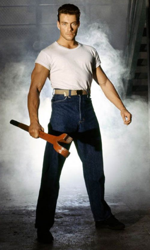 Jean-Claude van Damme with a very big tool