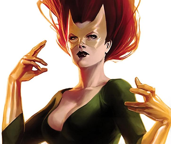 Marvel Girl (Jean Grey) painting