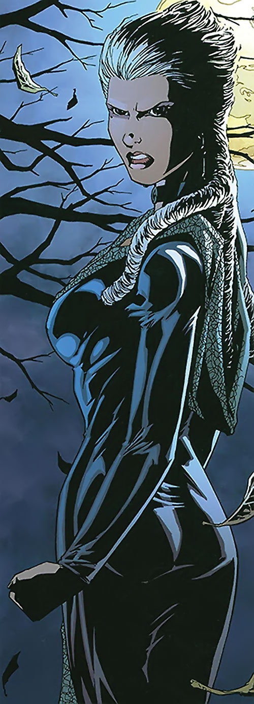 Jeanette of the Secret 6 (DC Comics) under a full moon