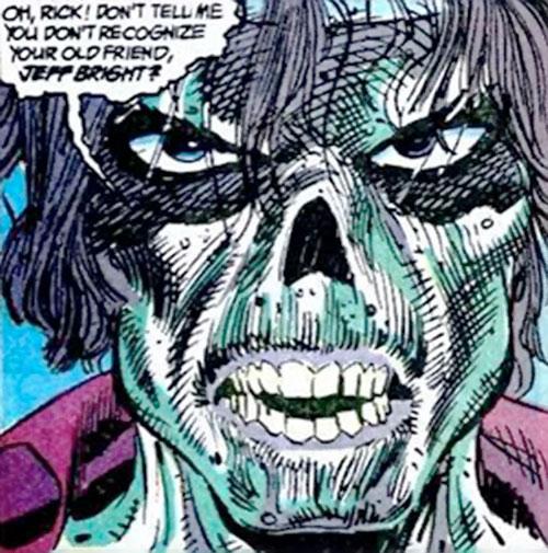 Koshchei the Deathless (Suicide Squad enemy) (DC Comics) face closeup
