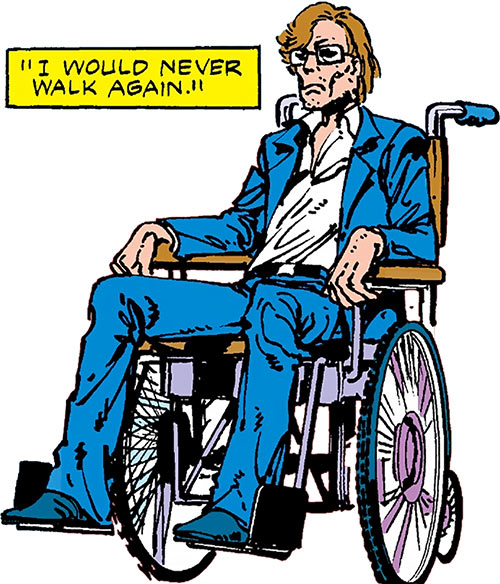Jerry Jaxon (Alpha Flight enemy) (Marvel Comics) wheelchair