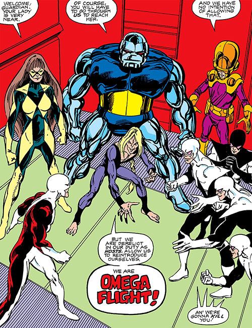 Jerry Jaxon (Alpha Flight enemy) (Marvel Comics) as Box with Omega Flight