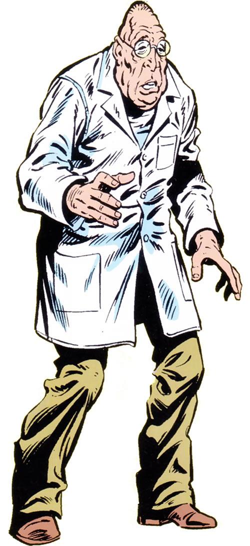 Shrunken Bones Jerry Morgan from the 1983 Official Marvel Comics Handbook