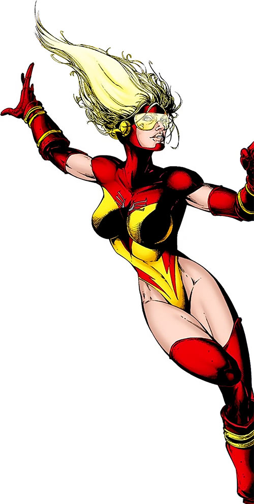 Jesse Quick (DC Comics) looking sexy