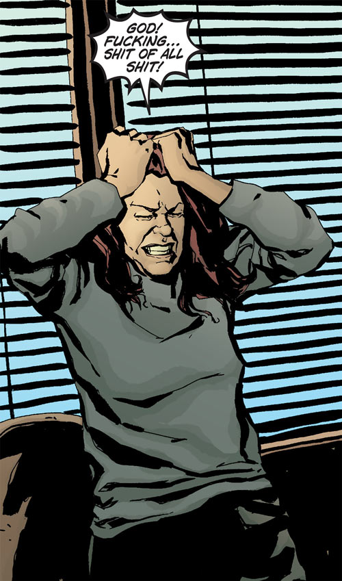 Jessica Jones (Marvel Comics) pissed off