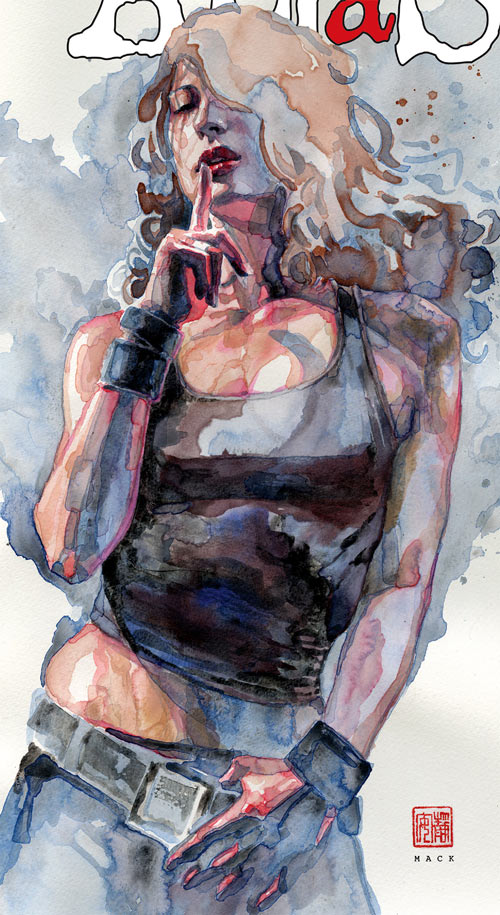 Jessica Jones (Marvel Comics) painting by David Mack, collection volume 3 cover