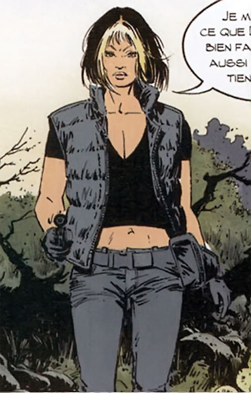 Jessica Martin (XIII comics graphic novels) in black and gray