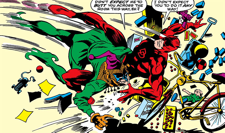 Jester (Marvel Comics) (Daredevil enemy) (Johnathan Powers) fight toys
