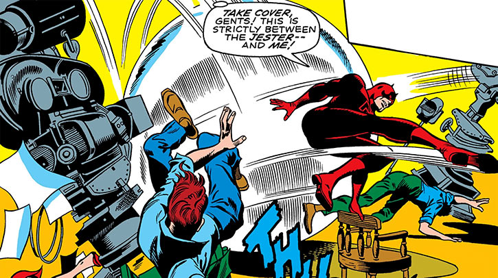 Daredevil jester marvel comics giant ping pong ball
