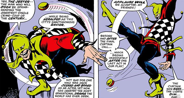 Jester (Marvel Comics) (Daredevil enemy) (Johnathan Powers) yo-yo dance