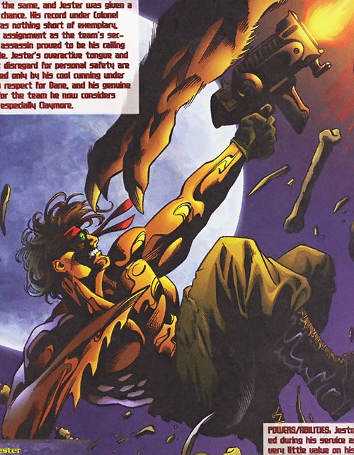 Jester of Wetworks (Image Comics) vs. a werewolf