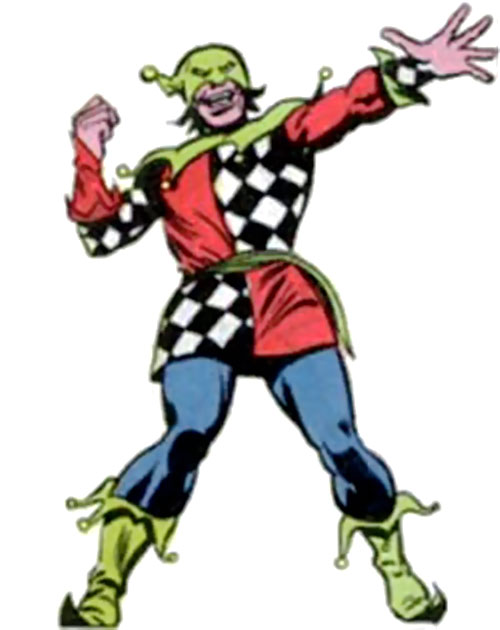 The Jester (Jonathan Powers) with the checkered costume