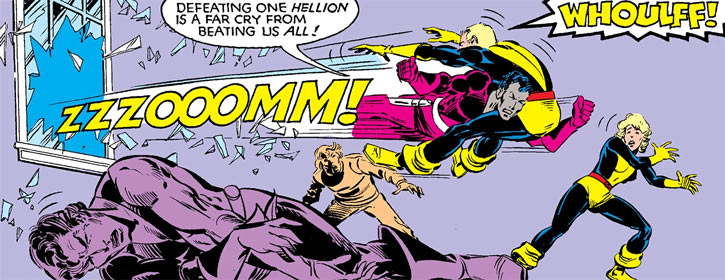Jetstream of the Hellions (Marvel Comics) vs. Cannonball