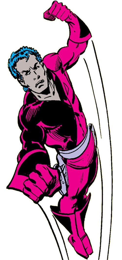 Jetstream of the Hellions (Marvel Comics) flying into action
