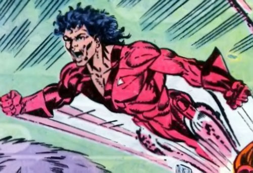 Jetstream of the Hellions (Marvel Comics) charging in