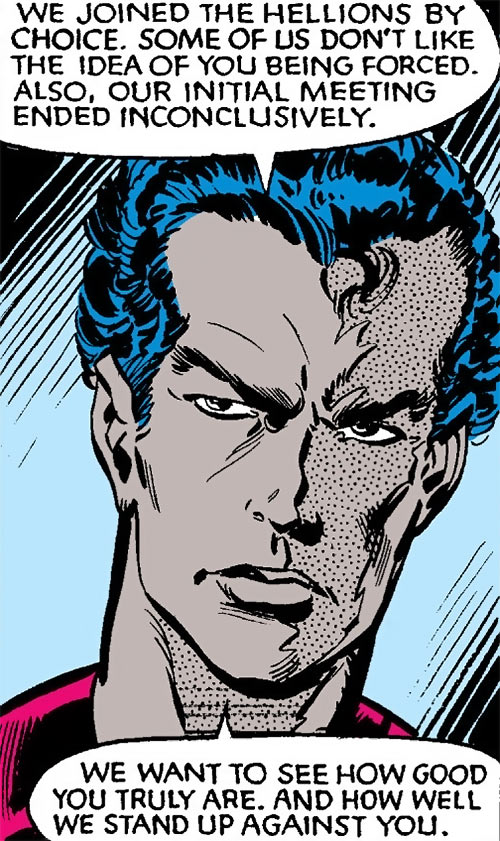Jetstream of the Hellions (Marvel Comics) face closeup