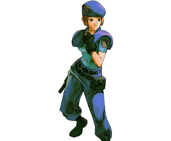 Jill Valentine (Resident Evil) STARS uniform drawn art