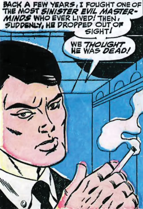 Jimmy Woo of SHIELD (Marvel Comics) smoking