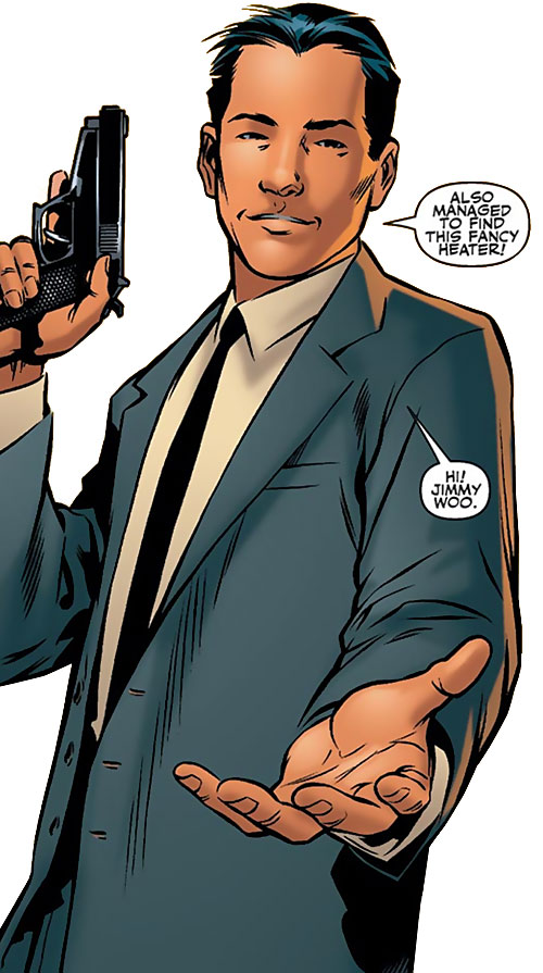 Jimmy Woo of the Agents of Atlas (Marvel Comics) offering a hand