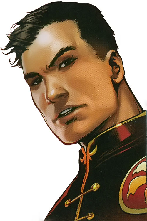 Jimmy Woo of the Agents of Atlas (Marvel Comics) face closeup