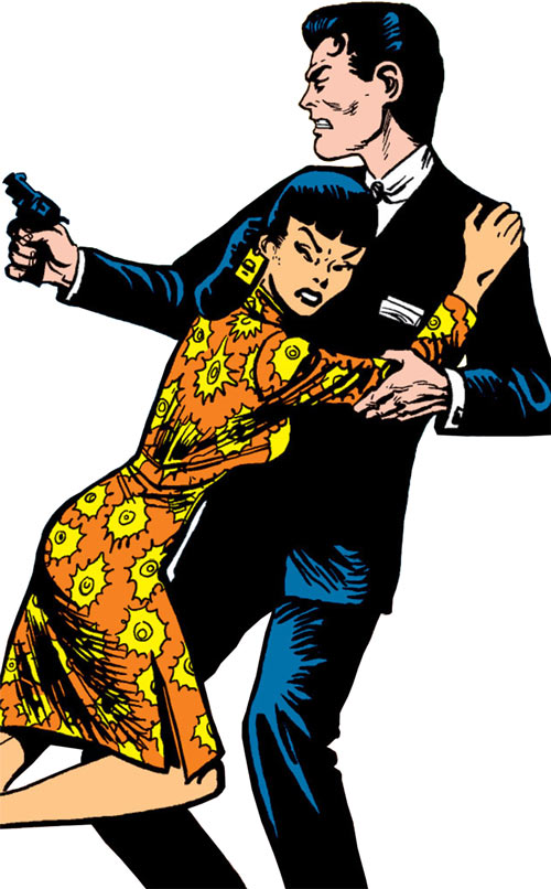 Jimmy Woo (1950s version) (Atlas Comics) with Su Wan