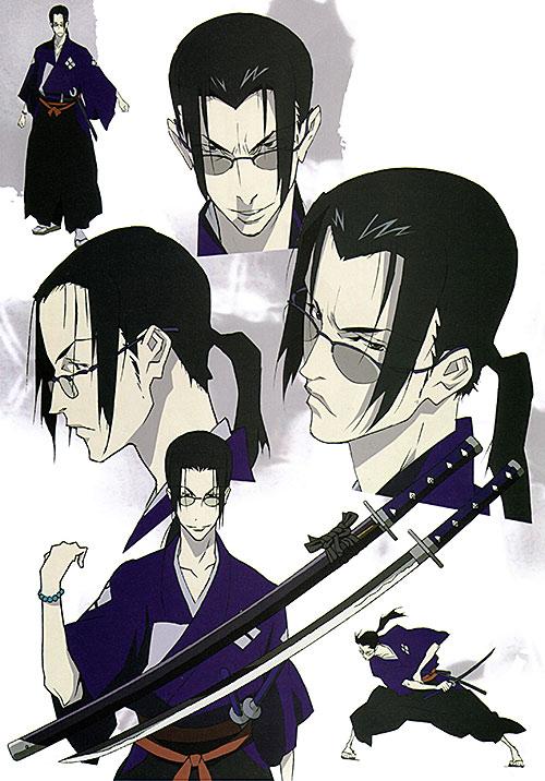 Jin (Samurai Champloo) character design sheet