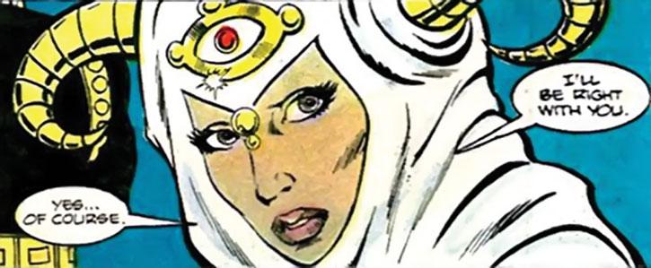 Jinx face closeup during the 1980s